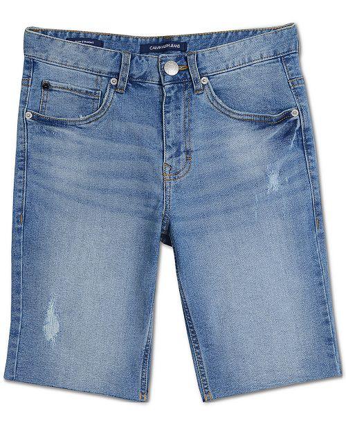 dbedc12f2 Calvin Klein Big Boys Rip & Repair Denim Jean Shorts & Reviews ...