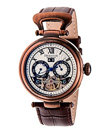 Automatic Ganzi Bronze Leather Watches 44mm