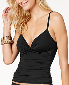 Lauren Ralph Lauren Beach Club Twist Underwire Slimming Fit Tankini Top