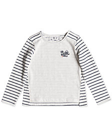 Roxy Little Girls Blossom Roses Striped Top