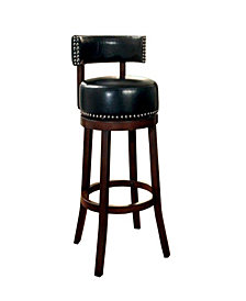 """Contemporary 24""""Bar Stool with Cushion, Set of 2"""