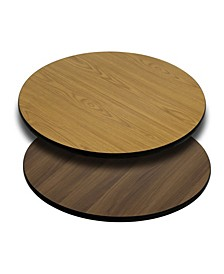 24'' Round Table Top with Reversible Laminate Top