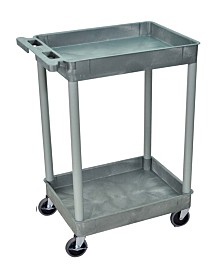 Offex 2 Shelf Gray Tub Cart