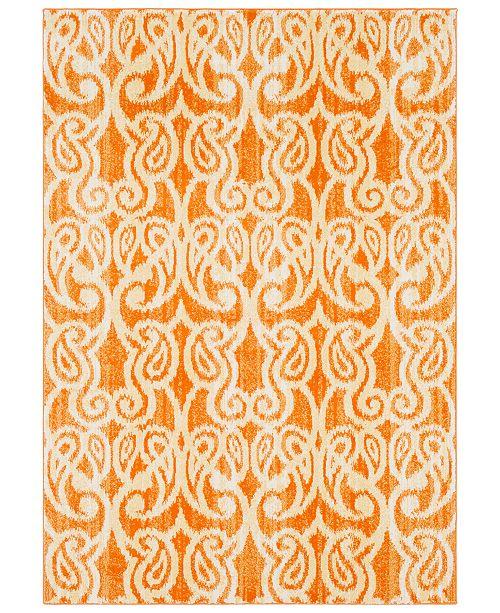 "Surya CLOSEOUT! Aberdine ABE-8020 Bright Orange 5'2"" x 7'6"" Area Rug"