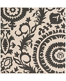 "Surya Alfresco ALF-9612 Black 7'3"" Square Area Rug, Indoor/Outdoor"