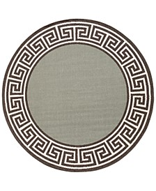 "Alfresco ALF-9625 Sage 8'9"" Round Area Rug, Indoor/Outdoor"