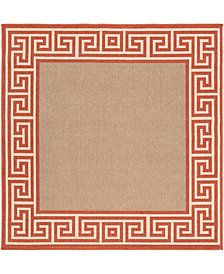 "Surya Alfresco ALF-9628 Rust 7'3"" Square Area Rug"