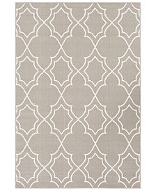 "Alfresco ALF-9651 Taupe 5'3"" x 7'6"" Area Rug, Indoor/Outdoor"