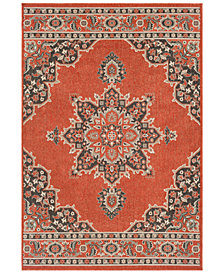"Surya Alfresco ALF-9672 Burnt Orange 3' x 5'6"" Area Rug"
