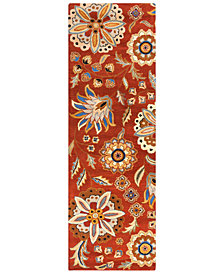 Surya Athena ATH-5126 Burnt Orange 3' x 12' Runner Area Rug