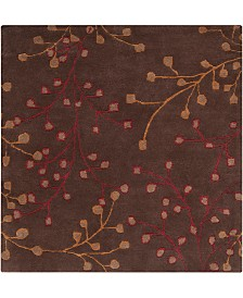 Surya Athena ATH-5052 Dark Brown 6' Square Area Rug