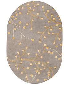 Surya Athena ATH-5060 Taupe 6' x 9' Oval Area Rug