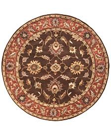 Surya Caesar CAE-1036 Dark Brown 4' Round Area Rug