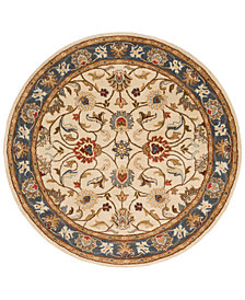 Surya Caesar CAE-1125 Bright Yellow 6' Round Area Rug