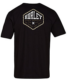 Hurley Men's Barbed Logo Graphic T-Shirt