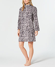 Miss Elaine Printed Fleece Zip Robe