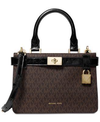 michael kors signature tatiana satchel handbags accessories macy s rh macys com