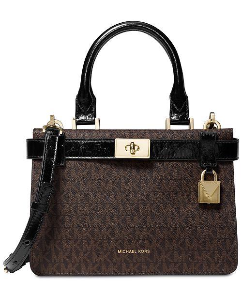 aaa40d09bf07 Michael Kors Signature Tatiana Satchel   Reviews - Handbags ...