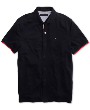 Tommy Hilfiger Adaptive Men's Sanders Polo Shirt with Magnetic Buttons