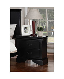 Attractive Pine Wood Night Stand, Black