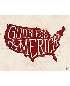 "God Bless America 20"" X 24"" Canvas Wall Art Print"