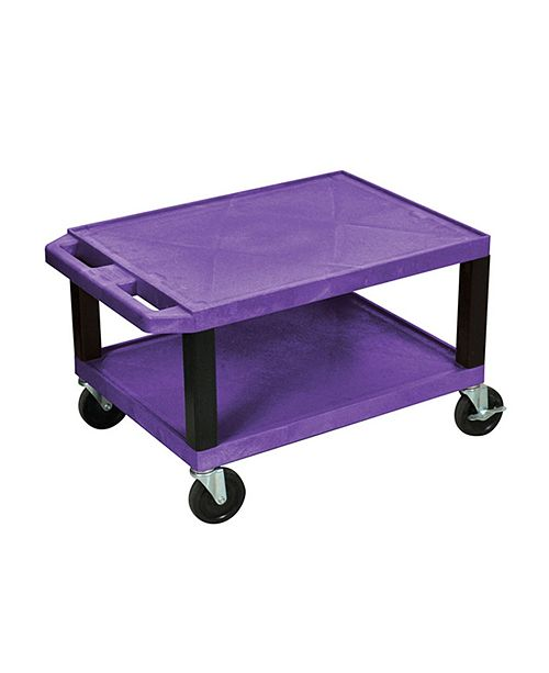 "Clickhere2shop 16"" H Tuffy AV Cart with 2 Shelf, Electric Shelves - Legs"