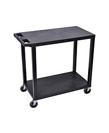 Cart with 2 Flat Shelves