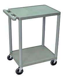 Clickhere2shop Structural Foam Plastic Utility Cart with 2 Shelves