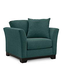 "Elliot II 32"" Fabric Arm Chair - Custom Colors, Created for Macy's"