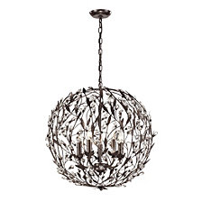 Circeo Collection 5 light pendant in Deep Rust