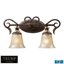 2 Light Vanity in Burnt Bronze - LED, 800 Lumens (1600 Lumens Total) with Full Scale Dimming Range