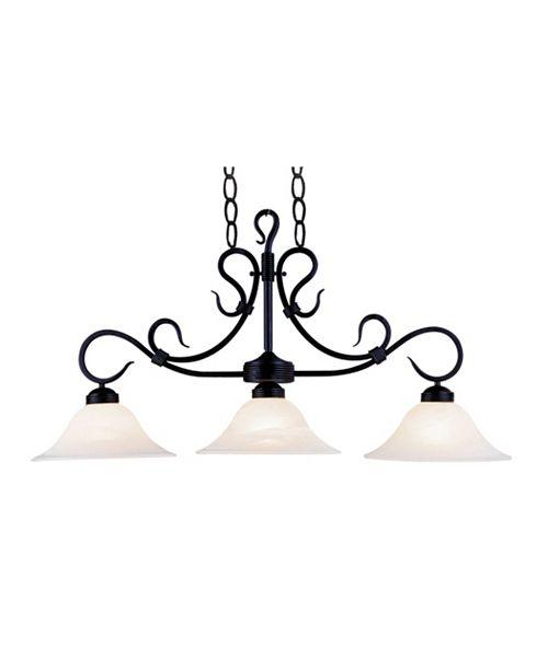 ELK Lighting Buckingham 3-Light Linear in Matte Black with White Glass