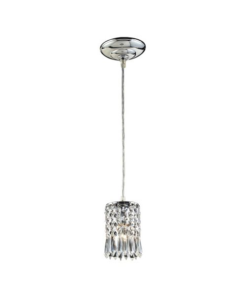 ELK Lighting Optix Collection 1-Light Pendant with Clear Crystal