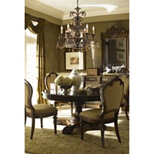 Rochelle 6-Light Chandelier with Amber Crystal