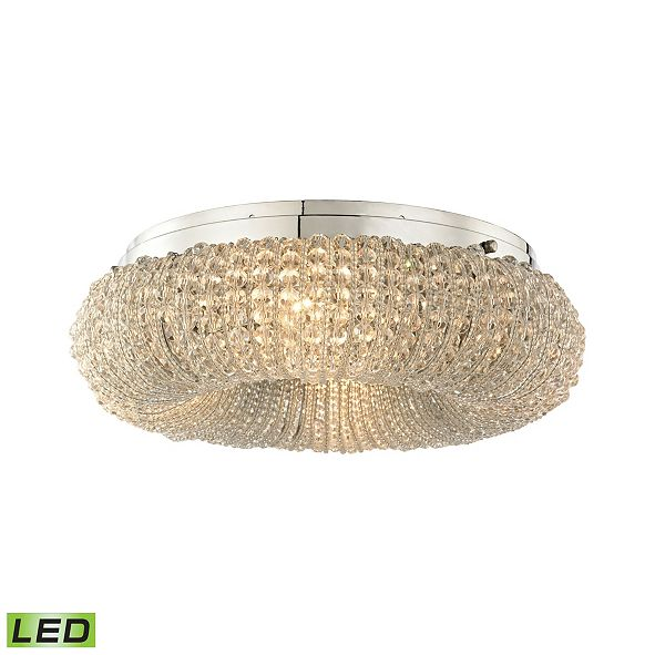 ELK Lighting Crystal Ring 4 Light Semi Flush in Polished Chrome