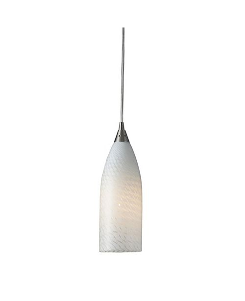 ELK Lighting Cilindro Collection White Swirl in Satin Nickel