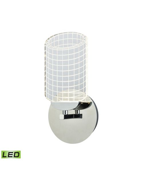 ELK Lighting Lightlines LED Wall Sconce in Polished Chrome with Clear Acrylic