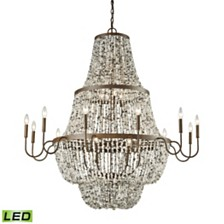Agate Stones 21 Light Chandelier in Weathered Bronze with Gray Agate Stones