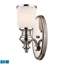 Chadwick 1-Light Sconce in Polished Nickel - LED Offering Up To 800 Lumens (60 Watt Equivalent) With