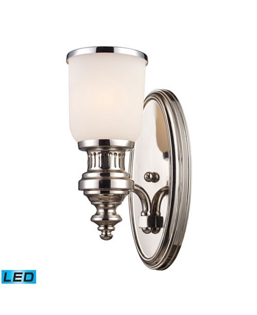 ELK Lighting Chadwick 1-Light Sconce in Polished Nickel - LED Offering Up To 800 Lumens (60 Watt Equivalent) With