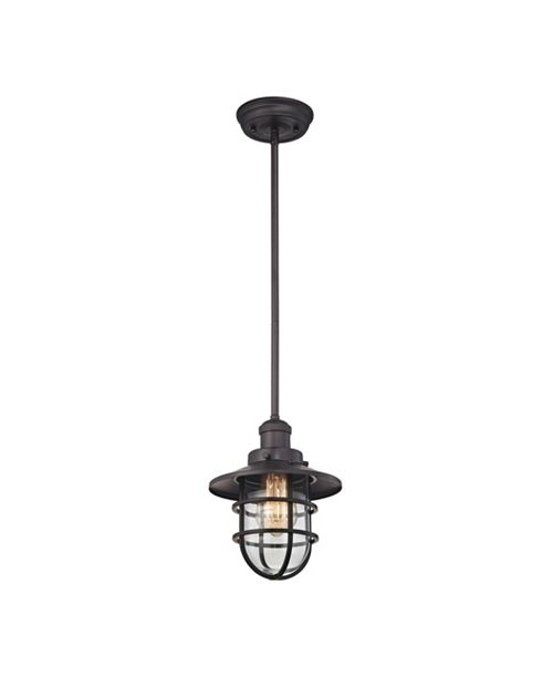 ELK Lighting Seaport 1 Light Pendant in Oil Rubbed Bronze