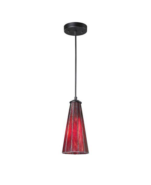 ELK Lighting Lumino 1-Light Pendant in Inferno Red in Matte Bk Finish