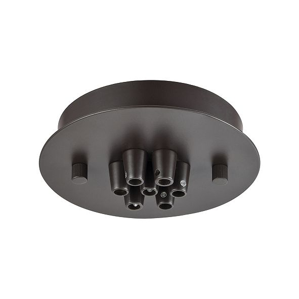 ELK Lighting Pendant Options 7 Light Small Round Canopy in Oil Rubbed Bronze