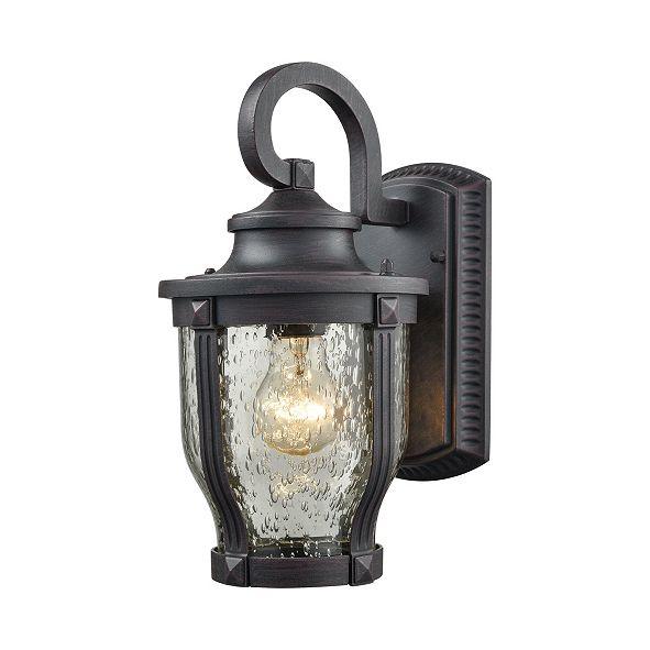 ELK Lighting Milford 1 Light Outdoor Wall Sconce in Graphite Black