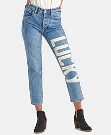 Lucky Brand Lucky-Appliqué Cropped Jeans