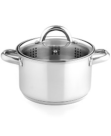 Tools of the Trade Stainless Steel 4 Qt. Soup Pot with Steamer Insert, Created for Macy's