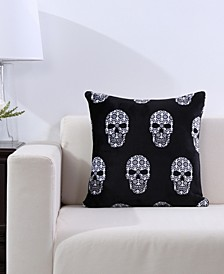 Blanket & Home Co.® Skull Print Velvety Plush Pillow