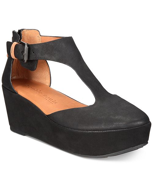 a4dd82a55ae Gentle Souls by Kenneth Cole Women s Nydia Platform Wedges ...