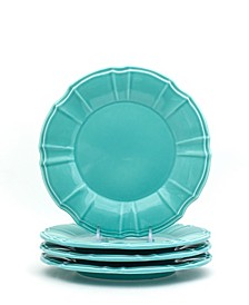 Chloe 4 Piece Turquoise Salad Plate Set