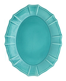 EuroCeramica Chloe Turquoise Oval Platter